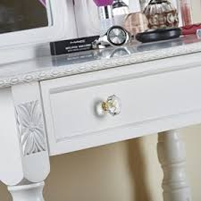 shabby chic white or black dressing table vanity makeup table