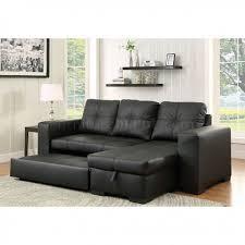 Denton Upholstery Sectional Sofa Cm6149bk Ltr In Black Leatherette