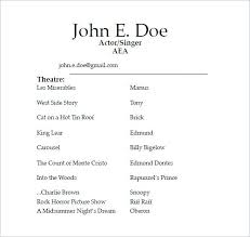 free acting resume template free acting resume template theatre resume templates best acting