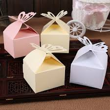 wedding gift box ideas wedding decoration 50pcs folding diy butterfly wedding candy box