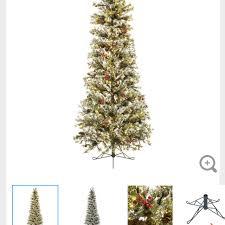 find more fast shape slim snow pine pre lit tree 7 1 2
