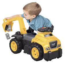 amazon com mega bloks ride on caterpillar with excavator toys