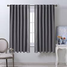 living room curtain panels amazon com nicetown blackout curtain panels for living room