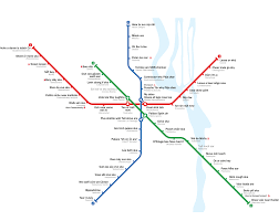 Moscow Metro Map by Alternative Metro Map