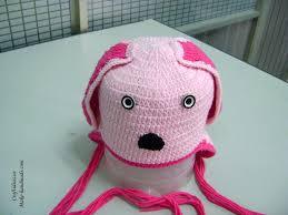 crochet dog hat for kid craft ideas