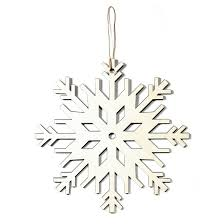 made modern large wood snowflake ornament assorted target