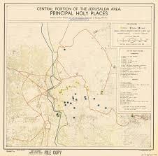 Map Of Jerusalem Jerusalem Armistice Lines Map 1949