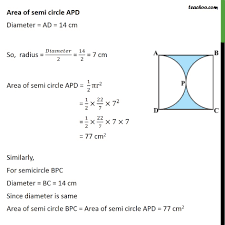 ex 12 3 3 if abcd is a square of side 14 cm and apd ex 12 3