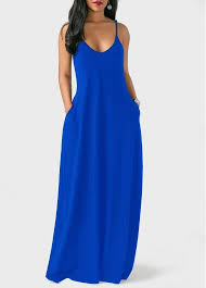 royal blue dress open back pocket decorated royal blue dress rosewe usd 26 26