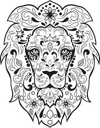 day of the dead coloring pages pin drawn sugar skull 6 day of the
