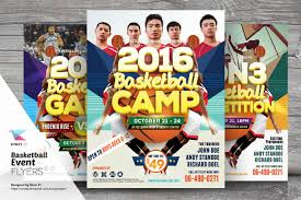 free event poster templates basketball event flyer templates flyer templates creative market