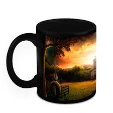 Ceramic Coffee Mugs Homesogood Nature With Most Beautiful Sight Ever Black Ceramic