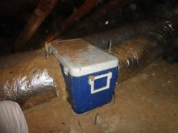 duct booster fan what s that ice chest doing in this attic duct system