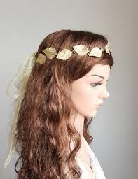 goddess headband gold leaves crown gold bridal headband goddess