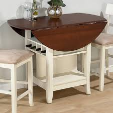 round drop leaf table and 4 chairs jofran counter height table in white cherry get with 4 chairs