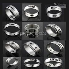 stainless steel rings for men 2018 wholesale mix 12 designs logo stainless steel ring finger