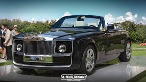 roll royce tuning rolls royce sweptail rendered in drophead guise