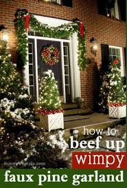 73 Best Deco Garland Images by How To Beef Up Wimpy Faux Pine Christmas Garland So It Looks Lush