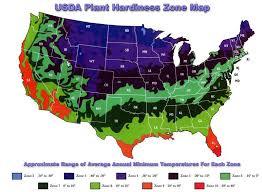 Garden Growing Zones - zone map