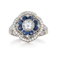 antique and sapphire rings wedding promise