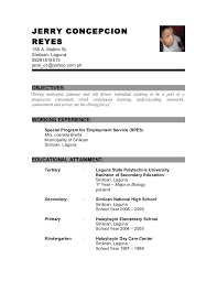 Example Of Resume For Fresh Graduate Information Technology by Sample Resume Criminology Graduate Resume Ixiplay Free Resume