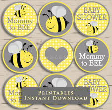 to bee baby shower to bee baby shower cupcake toppers party yellow and grey diy