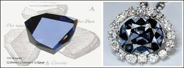 blue diamond necklace gem images The real heart of the ocean ct diamond museum jpg