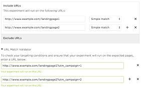 what does a cover page for a resume look like url targeting choose where your experiment runs optimizely simple match may also be handy for excluding certain urls from a substring match that targets many pages at once