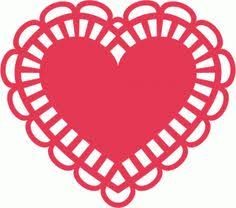 heart doily silhouette online store view design 38677 heart doily