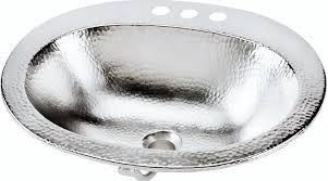 Hammered Silver Bathroom Sink Sinkology Bod 0903brn Dalton Drop In Handcrafted Bathroom Sink 20