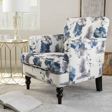 club chairs for living room boaz floral fabric club chair by christopher knight home free