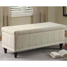 wooden ottoman bench seat furniture long foamy ottoman design featuring grey button seating