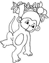 monkey colouring pictures print dessincoloriage