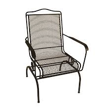 Lowes Wrought Iron Patio Furniture by Shop Garden Treasures Davenport Black Steel Mesh Spring Motion