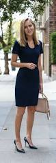 navy knit sheath dress navy patent leather pointed toe pumps