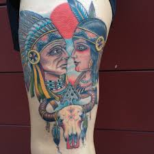 native american indian tattoo done by ross k ross k jones