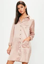 Blush Colored Blouse Shirt Dress Long Sleeve U0026 Button Shirt Dresses Missguided
