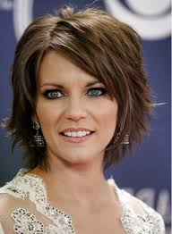 straight layered haircut side bangs best medium length haircut