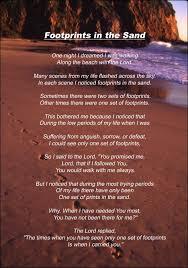 tonikum bayer footprints in the sand poem