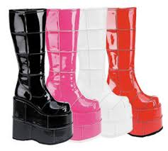 s gogo boots size 11 stack 301 platform gogo boots