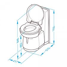 caravansplus thetford c263 cs cassette toilet ceramic bowl