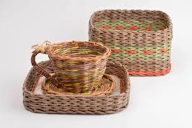 madeheart u003e newspaper tubes box paper box home decor wicker basket