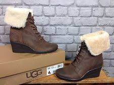 s ugg australia black zea boots ugg australia wedge lace up boots for ebay