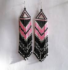 Ruby Red Long Brick Stitch 41 Best Indiánské Náušnice Images On Pinterest Earrings Seed