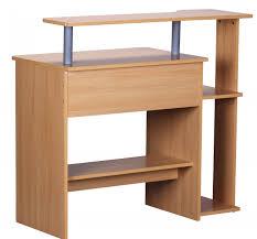 Schreibtisch Mit Aufsatz Finebuy Cevo Computertisch Buche 94 X 90 X 48 Cm Mit