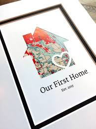 our first home personalized home map matted gift first
