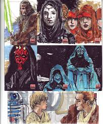star wars galaxy 5 sketch cards page 3