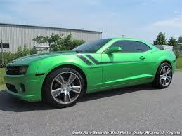 green camaro ss 2011 chevrolet camaro ss synergy green 2ss hurst edition turbo charged