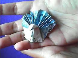 cara membuat origami bunga dari uang kertas origami uang cara membuat bentuk merak money origami how to make a