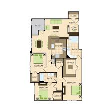 3 bedroom 2 bath floor plans floor plans luxury apartment living near liva nova